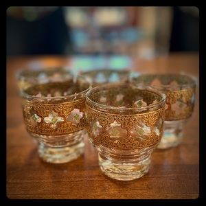 Culver Mid Century Modern Whiskey Glasses Set of 5